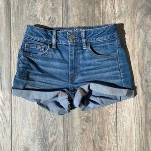 AEO Super Stretch Hi-Rise Shortie Size )